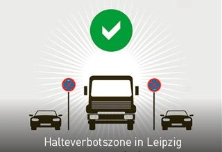 Halteverbotszone in Leipzig