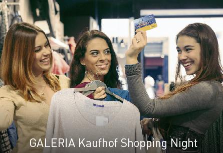 Die GALERIA Kaufhof Shopping Night am 3. November ab 20 Uhr
